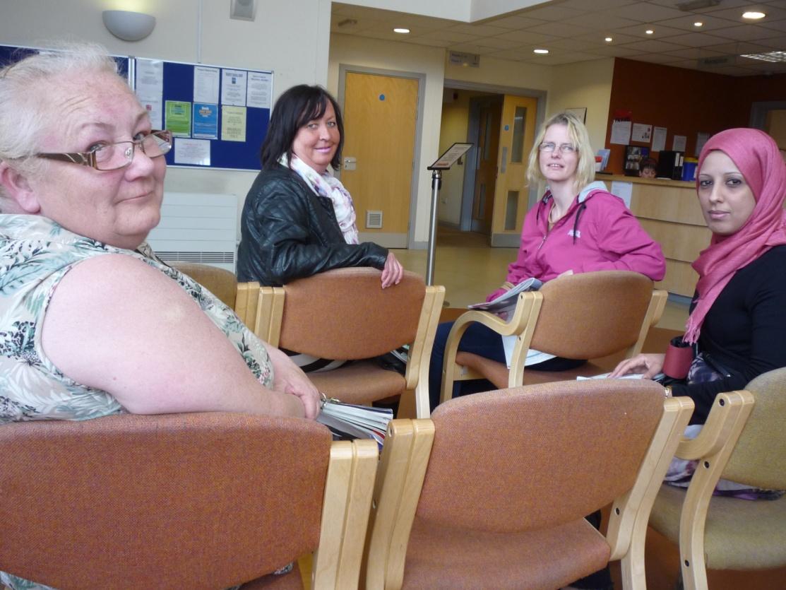 GP surgery reception area