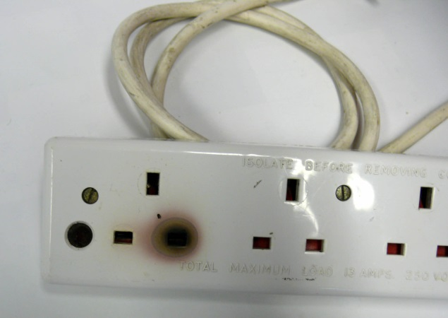 Heat damaged extension cable