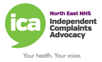 North East NHS Independent Complaints Advocacy Logo