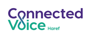 Connected Voice logo- Haref