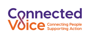 Connected Voice Connecting People Supporting Action logo