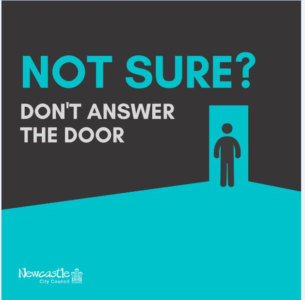 Not sure don't answer the door campaign