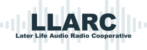 Later life audio and radio cooperative logo